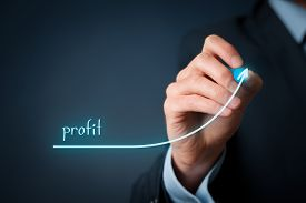 stock photo of economy  - Increase profit concept - JPG