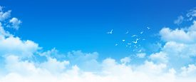 image of high-rise  - High resolution blue sky background - JPG