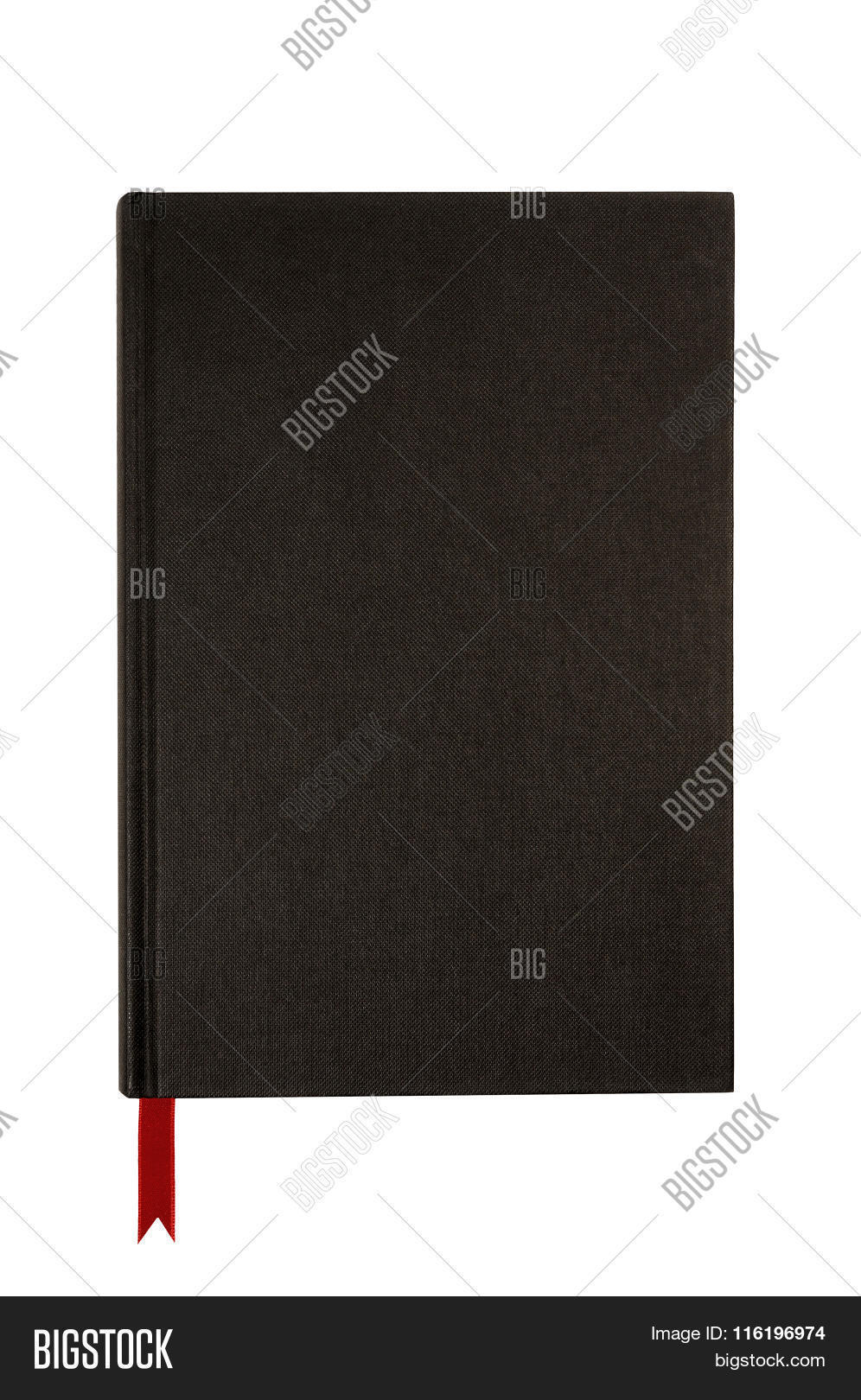 Plain Black Book Cover ~ Black plain hardcover book or bible front cover upright