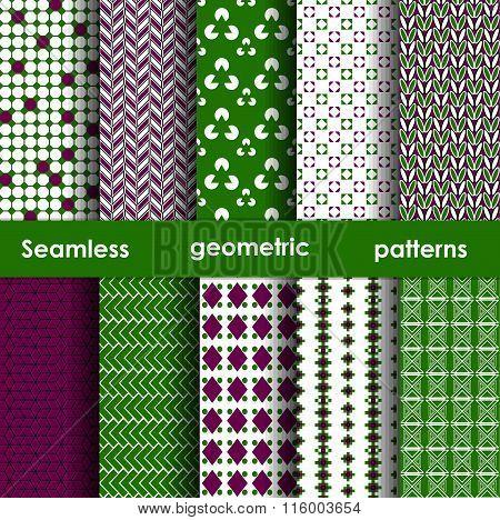 Set Of 6 Seamless Geometric Patterns