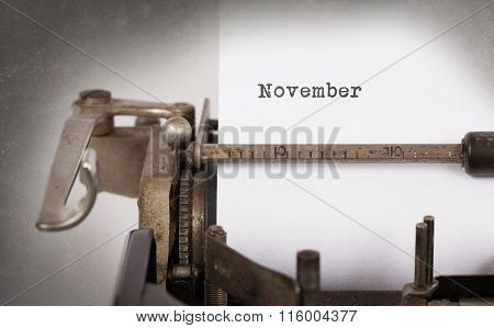 Old Typewriter - November
