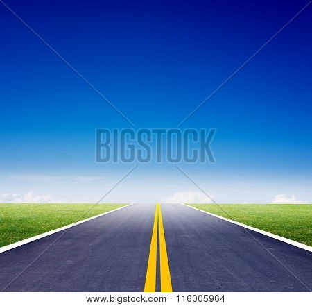 Highway road  with blue sky