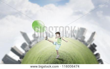 Careless happy child