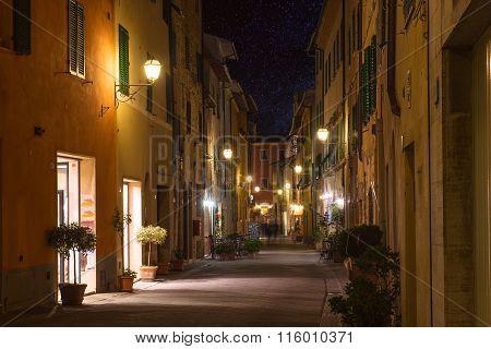 Tuscany town at night