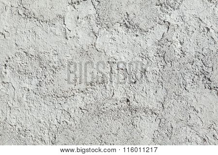 Whitewashed clay wall. Background texture.