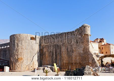 Ramparts Of Old Town Of Budva, Montenegro