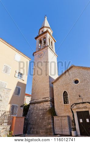 Belfry Of Church Of St John The Baptist In Budva