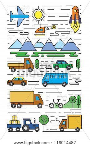 color flat transportation