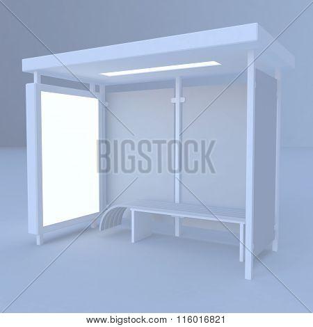 3D render bus stop