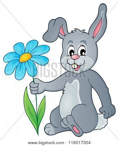 Easter bunny thematic image 1 - eps10 vector illustration.