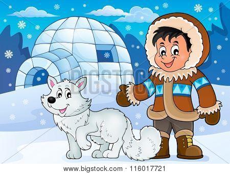 Arctic theme image 1 - eps10 vector illustration.