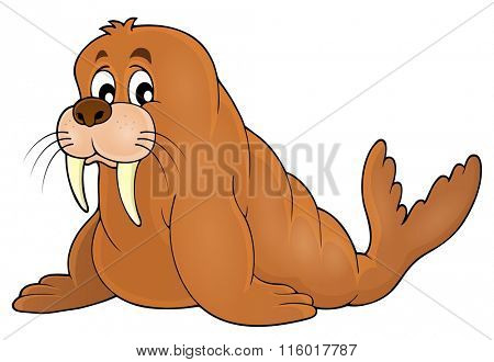 Walrus theme image 1 - eps10 vector illustration.