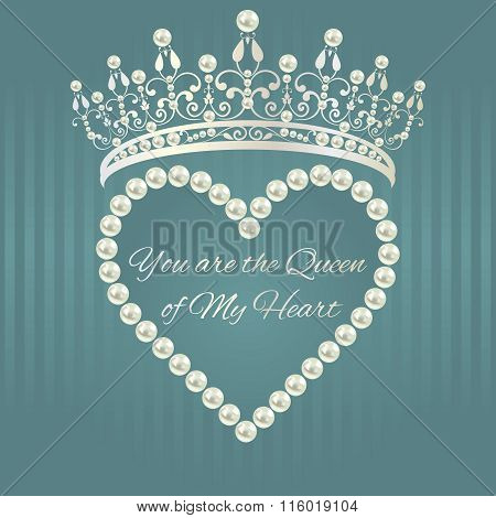 Linear pattern in gray blue color with tiara