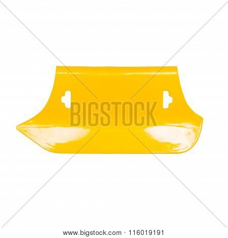 New putty knife isolated on white