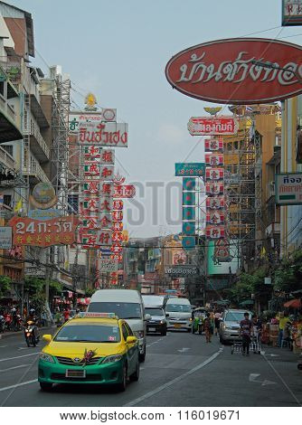 one of streets in chinese quarter, Bangkok