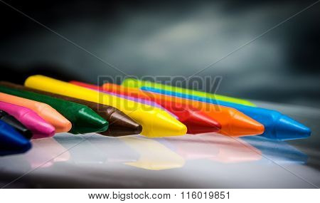 pencils crayons wax set