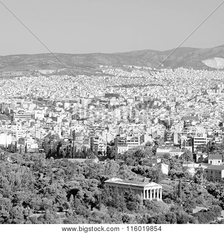 Ancient  And New Architecture In The Old Europe Greece  Congestion Of  Houses