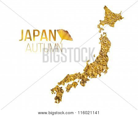 Japan Autumn leaf in Japan map