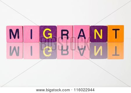 Migrant - An Inscription From Children's Blocks