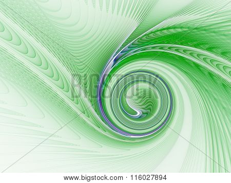 Green Abstract Spiral