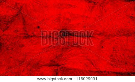 Red flag painted on wool. red wool