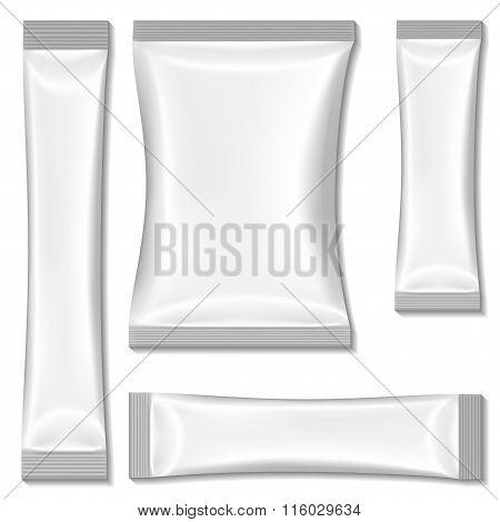 White Blank Sachet Packaging, Stick Pack