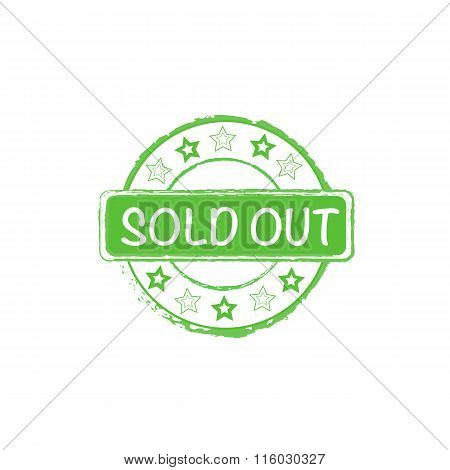 sold out vector stamp