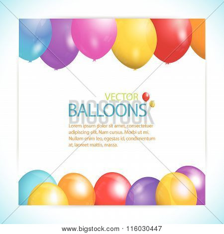 Balloons and sample text background