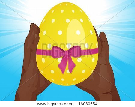 Easter Egg And Hands