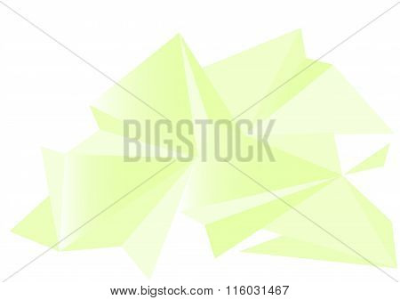 Low poly style vector, green and white low poly design, low poly style illustration, Abstract low po