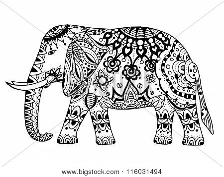 Vector Indian Elephant.