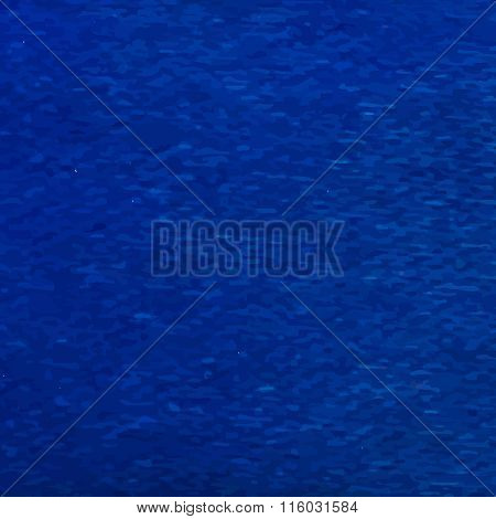 Blue fabric texture background. Vector. Ribbon macro illustration.