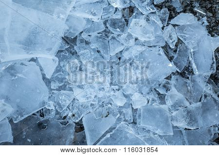 Ice Chunks In Nature