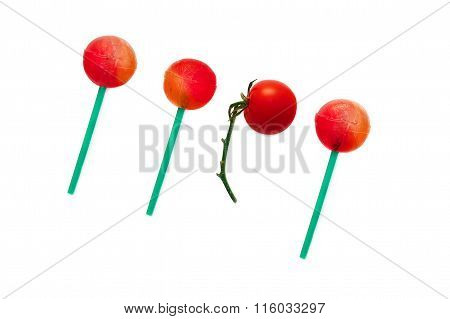 cherry tomato lollipop