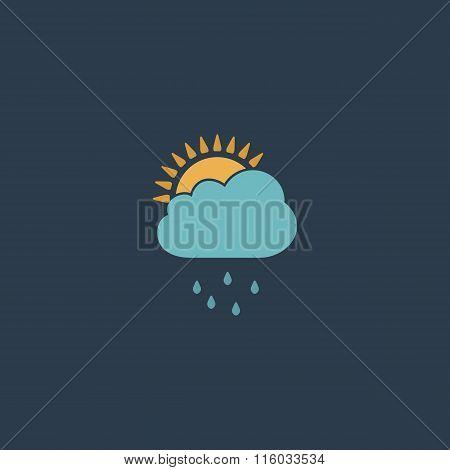 Rainy season flat icon