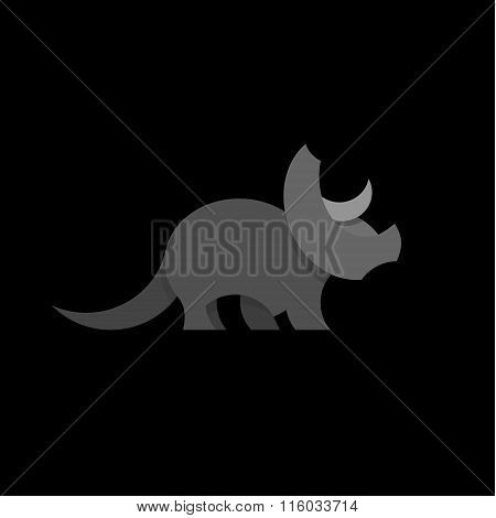 Animals Design Triceratops Dinosaur Illustration Graphics and Flat style