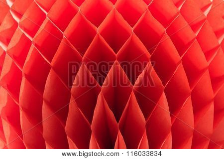 Red Hexagonal Ethnic Pattern