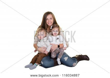 A mother and her twins