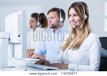 Workers Of Telemarketing Service