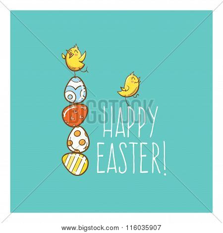 Vector Easter Card.