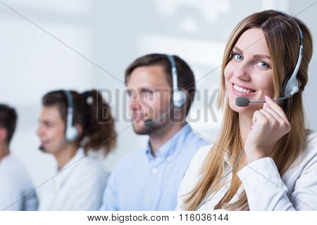 Woman Doing Career In Telemarketing