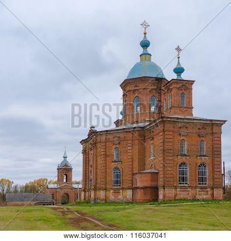 An ancient  church in Vorozhba village Sumskaya oblast Ukraine