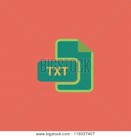 TXT text file extension icon.