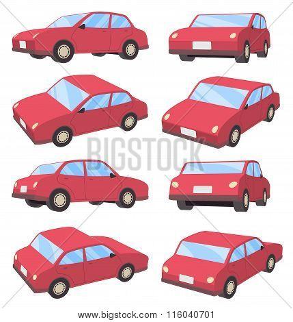 3D Car Sedan type