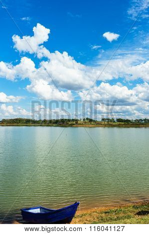 Lake View In Sunny Day