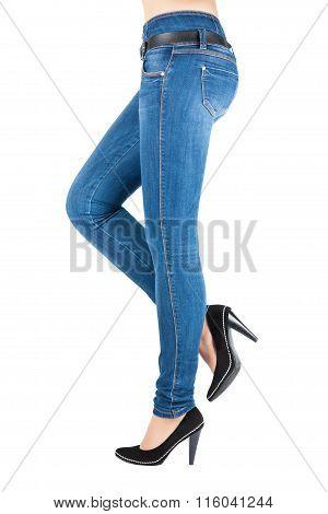 Legs In Jeans Belongs To Beautiful.