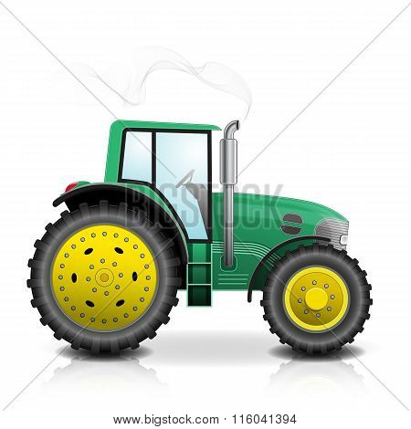 Tractor isolated on white background. Vector illustration
