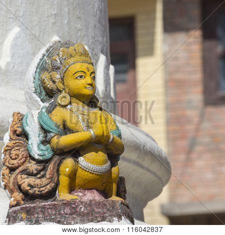 Stupa In Kathmandu Valley, Nepal