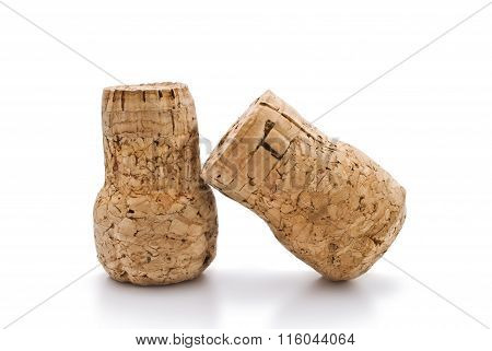 corks isolated on white background