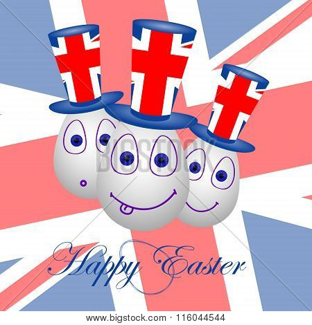 Card Happy Easter For Britain 1